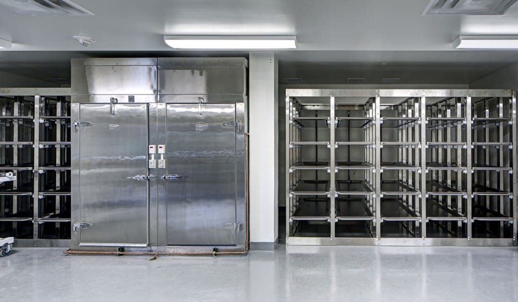 Stainless Steel Morgue Refrigeration and Storage System