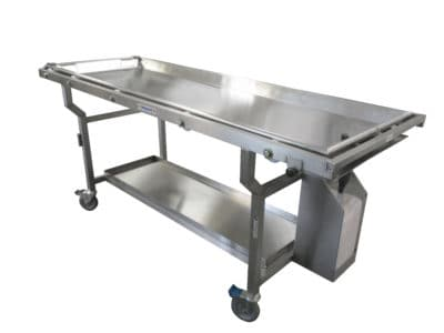 Roller Autopsy Cart with Fluid Collection System, Optional Included Tray