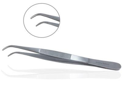 Forceps, Fine Tip, Curved, 6″ – AB034