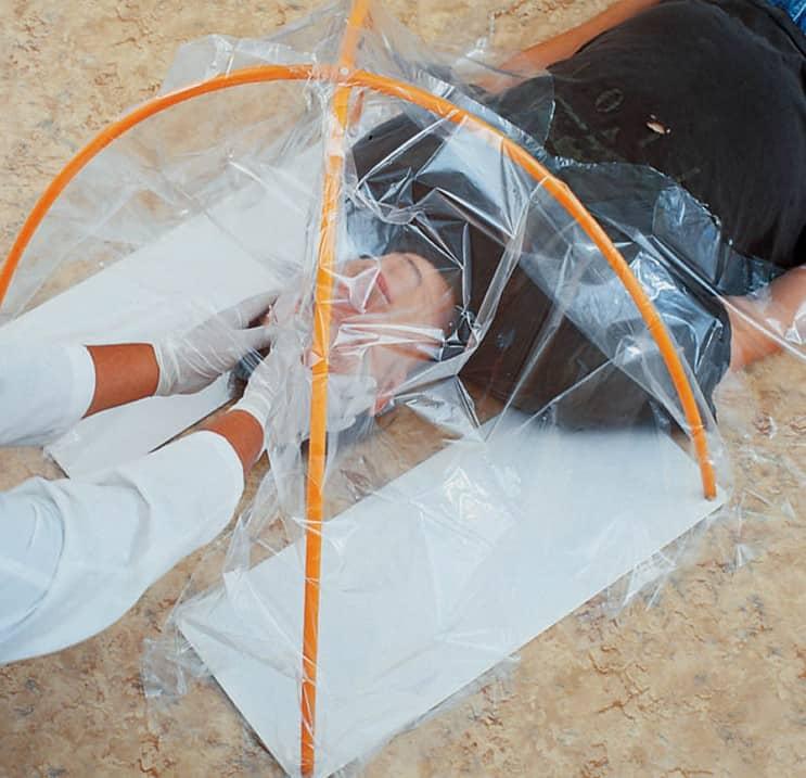 Autopsy Head Drape with Framework - BE010