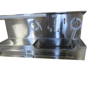 Autopsy Sink – Wall Mount, Left or Right Approach