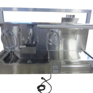 Autopsy Sink – Wall Mount, Elevating Left or Right Hand Approach