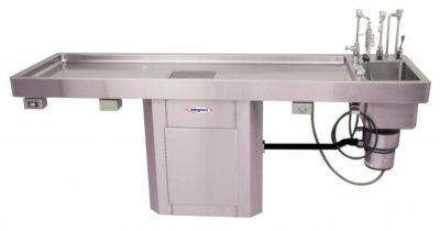 Autopsy Table, Pedestal Style with Elevating and Bariatric Options