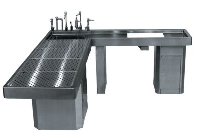 Autopsy Table – L Shaped with Integral Right Wing – CE600