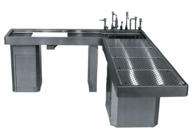 Autopsy Table – L Shaped with Integral Left Wing – CE700