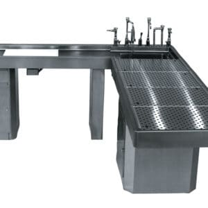 Autopsy Table with Integral Wing and Elevating Option