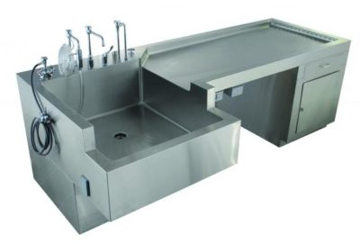 Autopsy Table – Sink Service with Cabinet – CE850