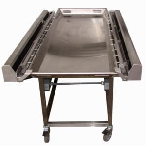 Embalming Cart with Various Tray Sizes