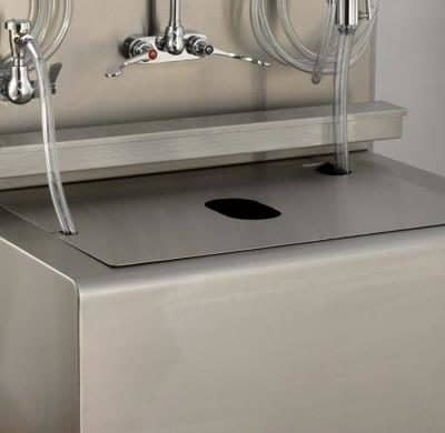 Large Fitted Sink Cover for Aerosols Containment