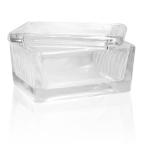 Coplin Glass Horizontal Staining Jar with Glass Cover – BA001