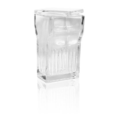Coplin (Glass) Staining Jar, Wide Top, w/ Glass Cover  – BA004