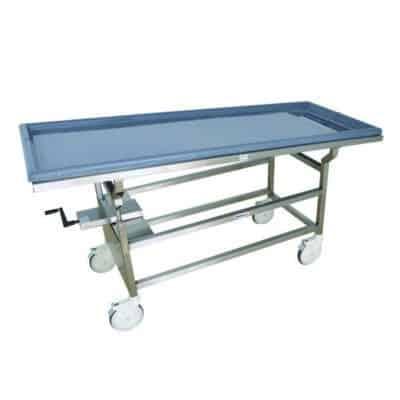 Tilting Autopsy Cart with Fiberglass Top – DB600