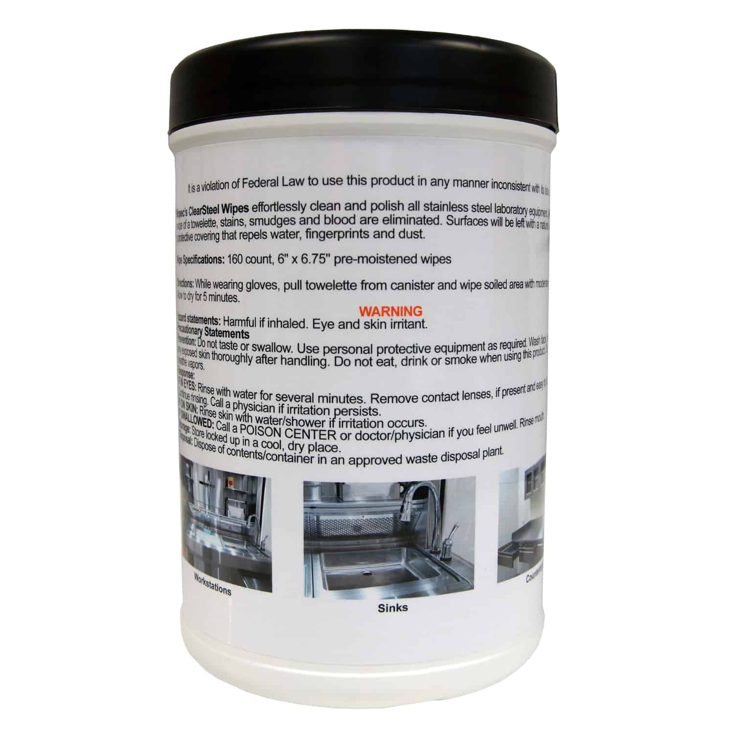 ClearSteel, Stainless Steel Cleaning & Polishing Wipes - BE039