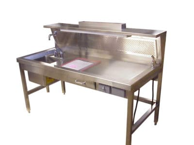 Grossing Station – 84″ Dissection Table with Left or Right Sink