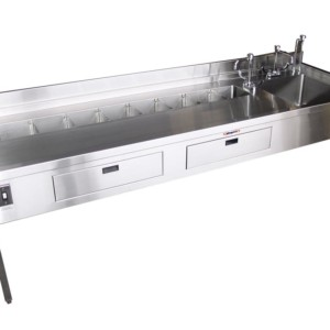 Dissecting Station – Organ Rinse Station with Drawers and Large Sink – HF200