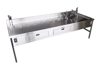 Dissecting Station – 114″ Organ Rinse Station with Drawers and Large Sink – HF200