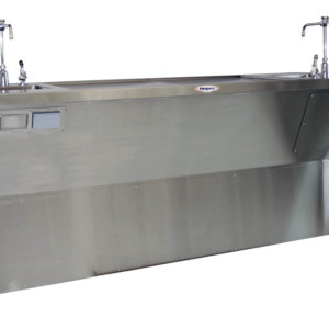 Grossing Station – Down Draft, Island Style Dissection Table with Dual Sinks – HG400