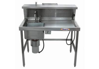 Grossing Station – Back draft, Dissection Table with Left or Right Sink