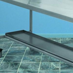 Lower Fixed Stainless Steel Shelf – HO024