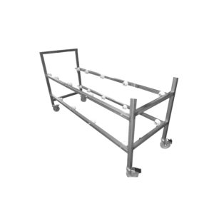 Cadaver Storage Rack with Casters, Two Tier – IF23201