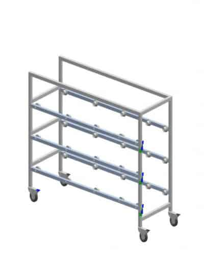 Cadaver Storage Rack with Casters, Three Tier – IF23301