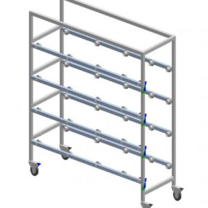 Cadaver Storage Rack with Casters, Four Tier, Various Widths Available