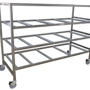 Cremation Storage Rack with Casters, Various Tiers
