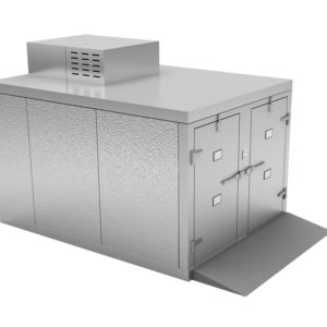 Four Body Roll-In Morgue Refrigerator ,Freezer Option Available, Various Dimensions