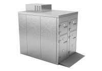 COMBO MORGUE REFRIGERATOR (6 BODY) - TELESCOPING END AND ROLL-IN