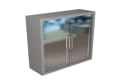 Wall Cabinet – Steel Swing Doors, 2 Shelves, Various Dimensions