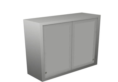 Wall Cabinet – Sliding Steel Doors, 2 Shelves, Various Dimensions
