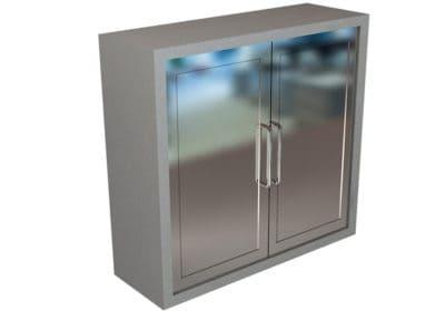 Wall Cabinet – Steel Swing Doors, 3 Shelves, Various Lengths