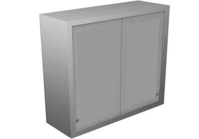 Wall Cabinet – Sliding Steel Doors, 3 Shelves, Various Lengths