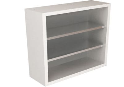 Wall Cabinet with 3 Shelves, Open Front, Various Lengths