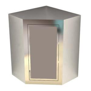 Dead Wall Corner Cabinet – Solid Swing Door