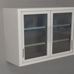 Wall Cabinet – Swing Door with 2 Shelves, Various Dimensions