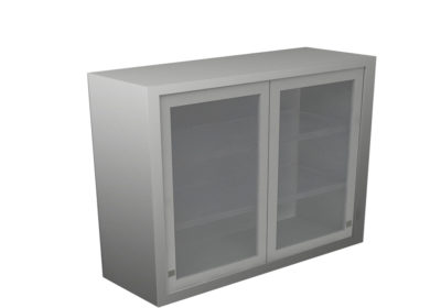 Wall Cabinet – Sliding Glass Door with 2 Shelves, Various Dimensions