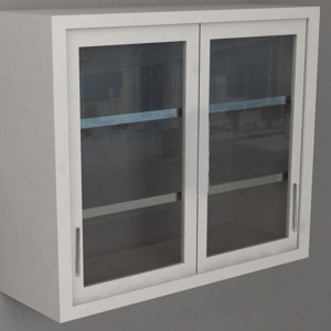Wall Cabinet – Swing Glass Door with 3 Shelves, Various Lengths
