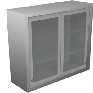 Wall Cabinet – Sliding Door with 3 Shelves, Various Lengths