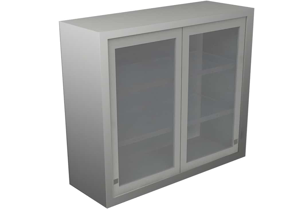 Wall Cabinet Sliding Door With 3 Shelves Various Lengths