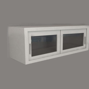 Wall Cabinet – Swing Glass Door with No Shelf, Various Lengths