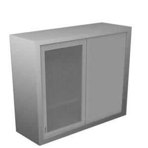 Dead Wall Corner Cabinet – Glass Door with Various Heights & Openings