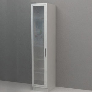 Tall Cabinet – Glazed Glass Swing Door, Various Dimensions & Openings