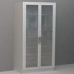 Tall Cabinet – Glazed Glass Swing Doors, Various Dimensions