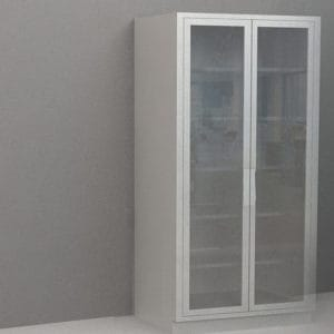 Tall Cabinet – Glazed Glass Sliding Doors, Various Dimensions