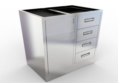 Base Cabinet with 4 Drawers, Various Lengths & Openings