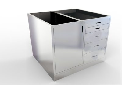 Base Cabinet – 5 Drawer, 1 Door, Various Lengths & Openings