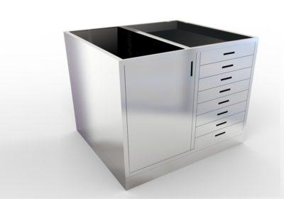 Base Cabinet – 8 Drawer, 1 Door, Various Lengths & Openings