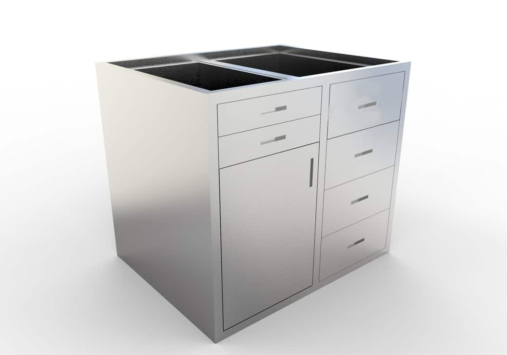 base cabinet 6 drawer 1 door various lengths openings. Black Bedroom Furniture Sets. Home Design Ideas