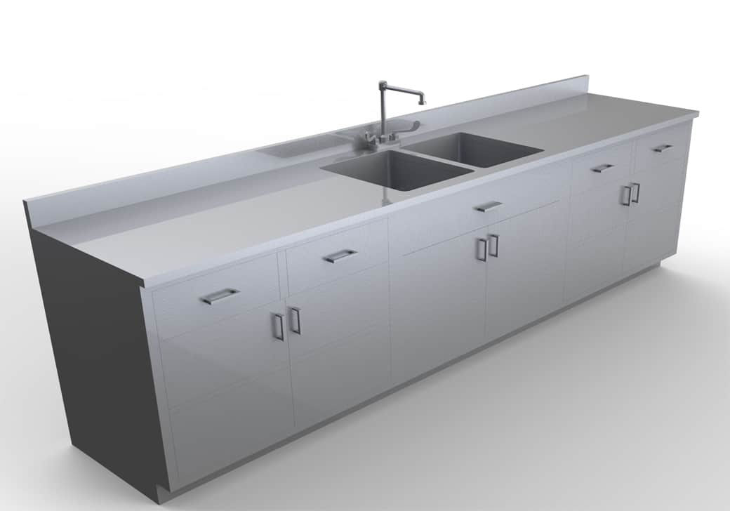 Base Cabinet with Sink 10 feet - LG100-120